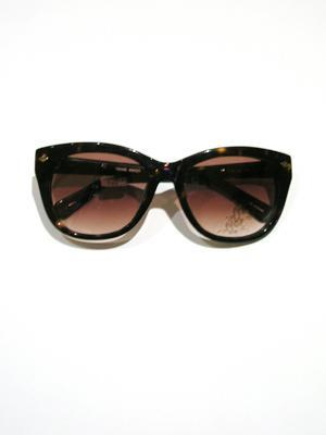 KAREN WALKER dark tortoise shell sunglasses