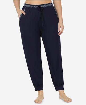DKNY Plus Size Striped Cropped Pajama Pants