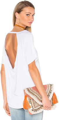 Chaser Drape Back Short Sleeve Scoop Neck Tee $64 thestylecure.com