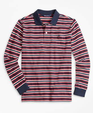 Brooks Brothers Cotton Long-Sleeve Stripe Polo Shirt