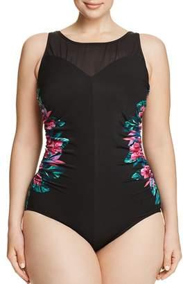 0834de48b4 Miraclesuit Plus Tahitian Temptress Fascination One Piece Swimsuit