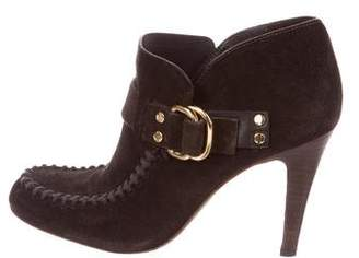 Tory Burch Suede Buckle Ankle Booties