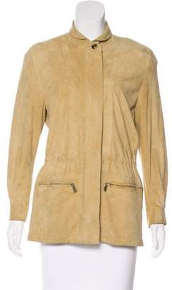Loro Piana Suede Zip-Up Jacket