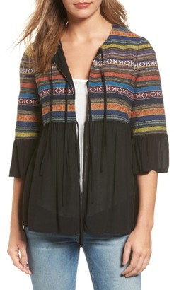 Women's Pleione Embroidered Jacquard & Gauze Top $79 thestylecure.com