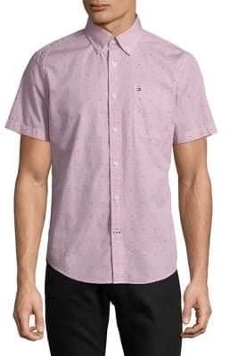 Tommy Hilfiger Star-Print Short-Sleeve Shirt