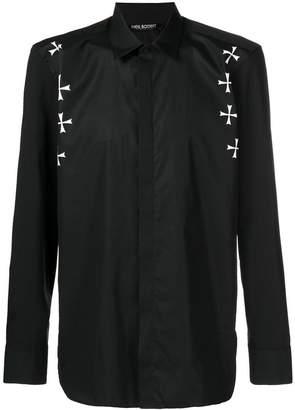 Neil Barrett Maltese cross print shirt