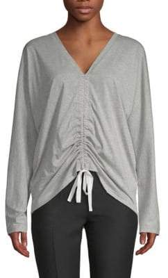 Robert Rodriguez Ruched-Front Cotton Top