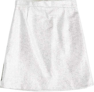Carven Metallic Skirt with Cotton