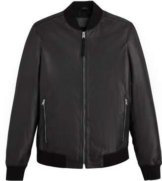 AllSaints Men's Mower Leather Bomber
