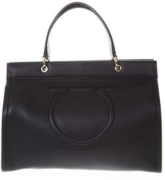 Salvatore Ferragamo Meera Black Leather Tote Bag