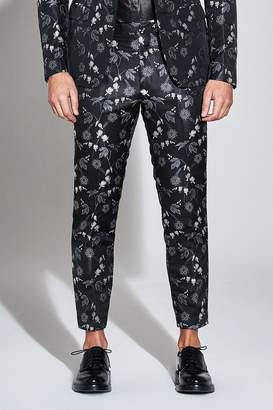 boohoo Premium Skinny Oriental Floral Cropped Trouser