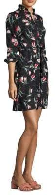 Rebecca Taylor Ikat Silk Tie Dress