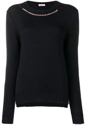 P.A.R.O.S.H. embellished collar jumper