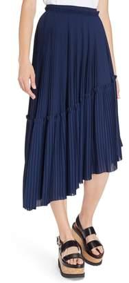 Kenzo Asymmetrical Pleated Midi Skirt
