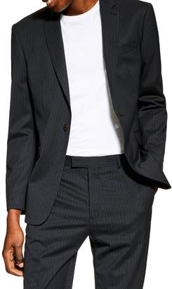 Topman Slim Fit Pinstripe Suit Jacket
