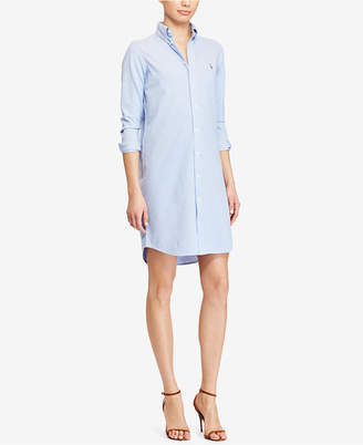 Polo Ralph Lauren Knit Oxford Cotton Shirtdress $145 thestylecure.com