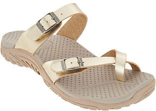 Skechers Metallic Double Strap Toe Loop Sandals- Wishlist