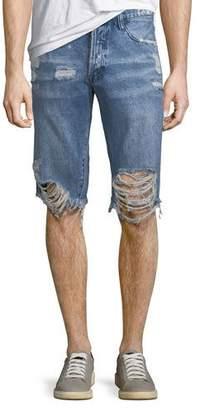 PRPS Men's Destroyed Denim Shorts