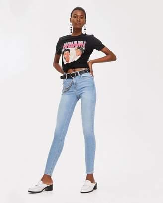 Topshop MOTO Bleach Jamie Jeans
