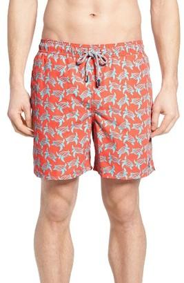 Men's Tom & Teddy Turtle Print Swim Trunks $94.95 thestylecure.com