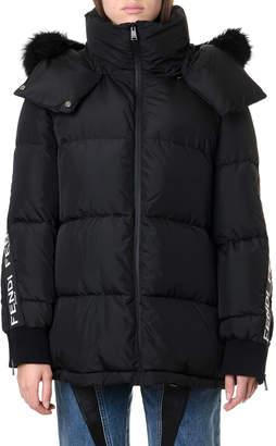 Fendi Black Logo Bands Down Jacket