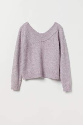 H&M V-neck jumper - Purple
