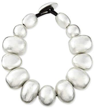 Viktoria Hayman Freeform Silver Foil Bauble Necklace