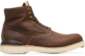 Visvim brown Virgil Folk leather boots