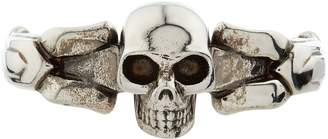 Alexander McQueen Divided Skull Ring