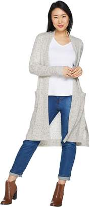 Isaac Mizrahi Live! 2-Ply Cashmere Open Front Duster Cardigan