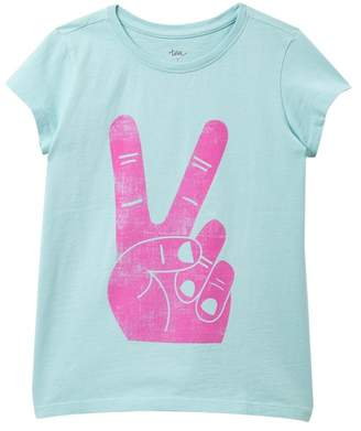 Tea Collection Peace Sign Graphic T-Shirt (Big Girls)