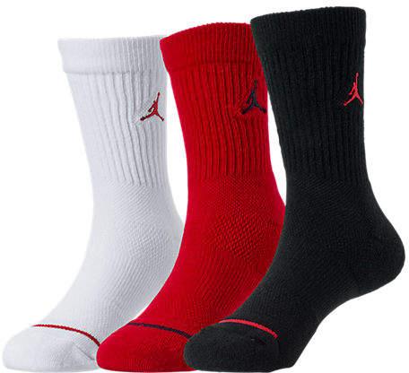 Kids' 3-Pack Crew Socks, Kids Unisex, Black