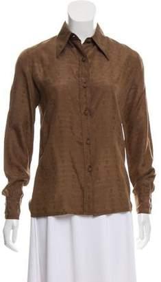 Gucci Silk Button-Up Top