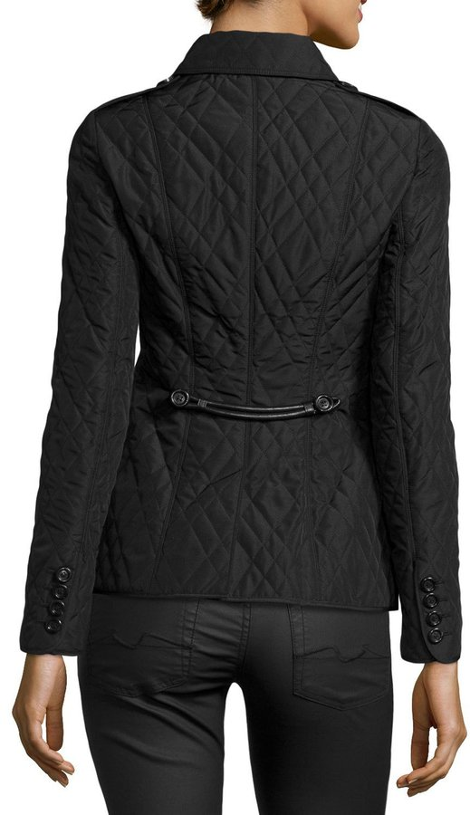 Burberry Check-Lined Quilted Jacket