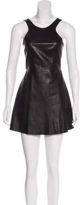 Mason Leather Mini Dress