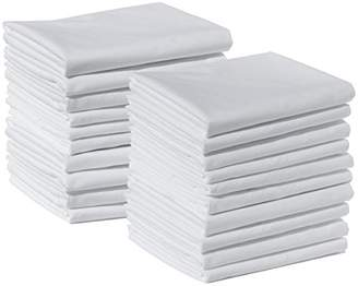 American Pillowcase 100% Brushed Microfiber 20-Pack Bulk Pillowcase Set with 2-Inch Hems - Standard