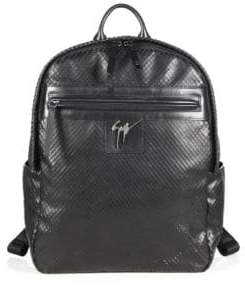 Giuseppe Zanotti Lindos Textured Leather Backpack