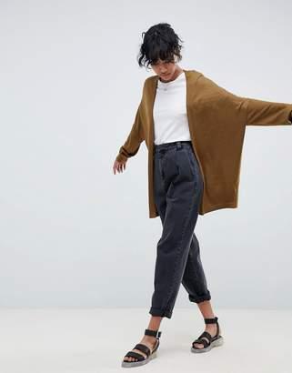 Asos Design Eco Cardigan In Oversize Fine Knit