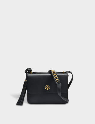 6d1202d7ae82 Tory Burch Brooke Shoulder Bag in Black Leather