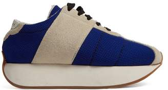 Marni Big Foot Low Top Trainers - Womens - Blue Beige