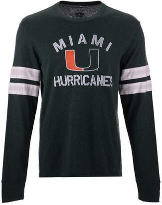 '47 Men Miami Hurricanes Long Sleeve Scramble T-Shirt