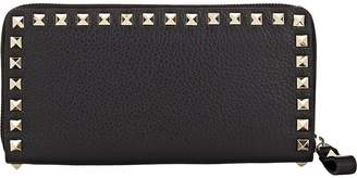Valentino Women's Rockstud Leather Zip-Around Wallet