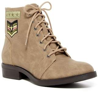 Madden Girl Foxtrt Embroidered Combat Boot $69 thestylecure.com