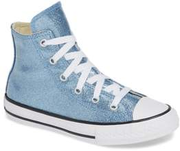 Converse R) Glitter High Top Sneaker
