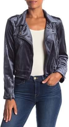 Fate Velvet Moto Jacket
