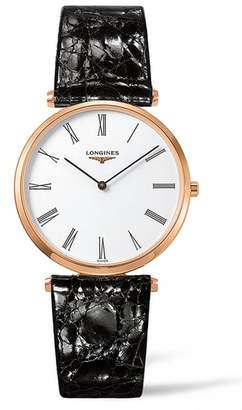 Longines La Grande Classique Leather Strap Watch, 36mm