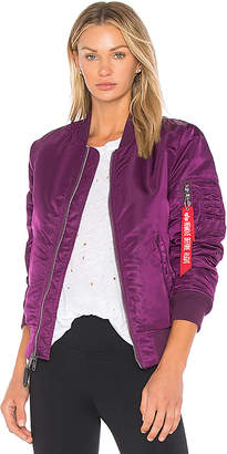 ALPHA INDUSTRIES MA-1 Jacket in Purple $150 thestylecure.com