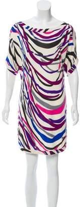 Diane von Furstenberg Silk Printed Mini Dress