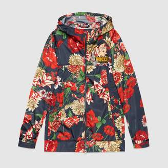Gucci Spring bouquet nylon jacket