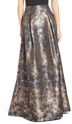 Women's Eliza J Metallic Floral High Waist Ball Skirt $248 thestylecure.com